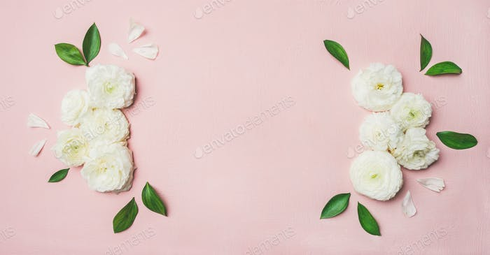 Floral background with blank card