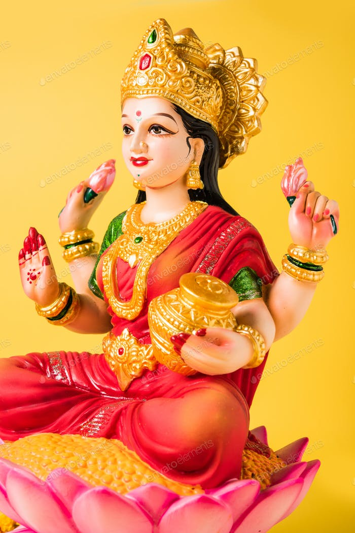 Lakshmi Idol or Laxmi Clay Idol