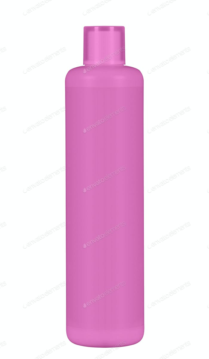 shampoo bottle isolated on white background
