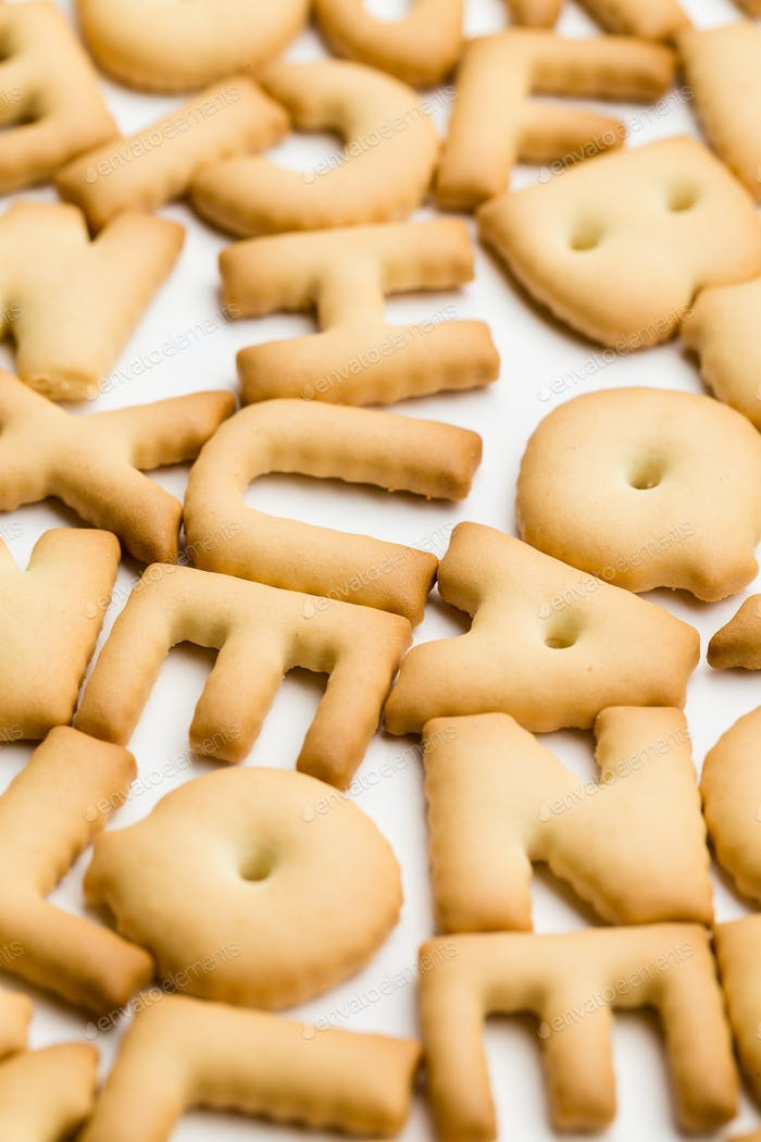 Letter cookie for children