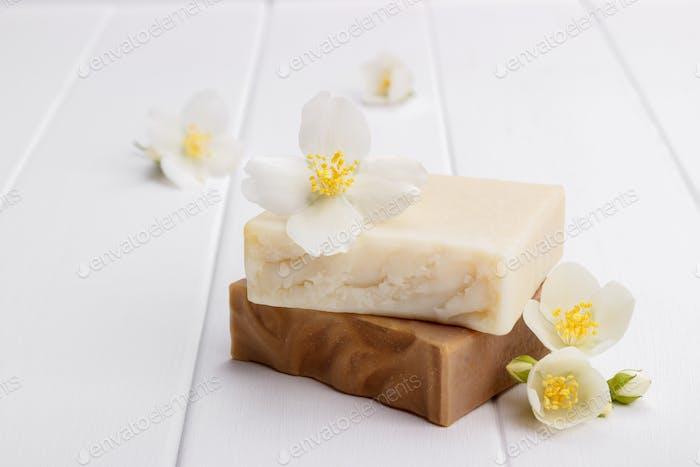 Hand made jasmine soap