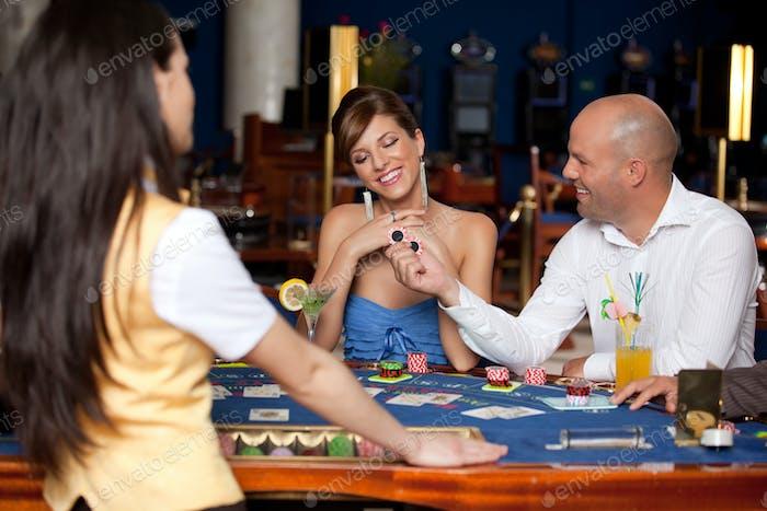 couple playing blackjack