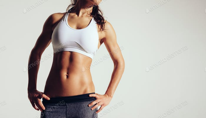 Frau mit perfektem Körper