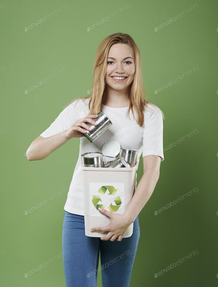 Sie mag Ökologie und hilft für die Umwelt