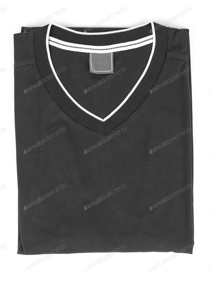folded t-shirt on white background