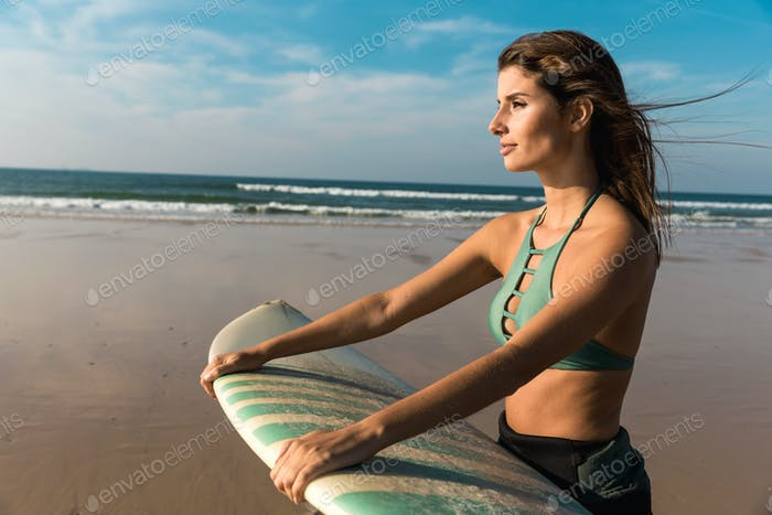 Beautiful surfer girl