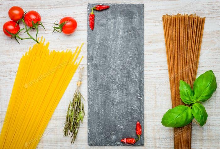 Italian Food Spaghetti Pasta Text Space