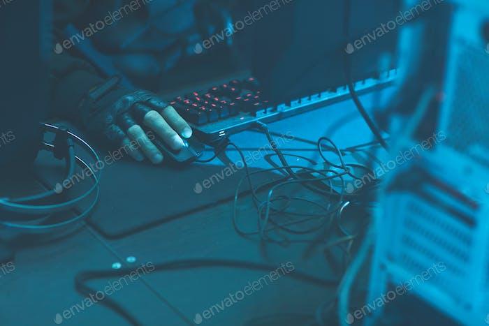 Kriminelle Hacking-Computersystem