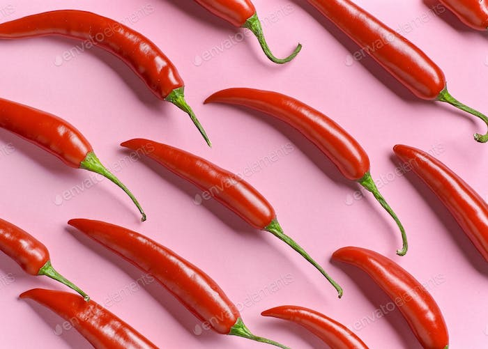 pattern of red chili pepper