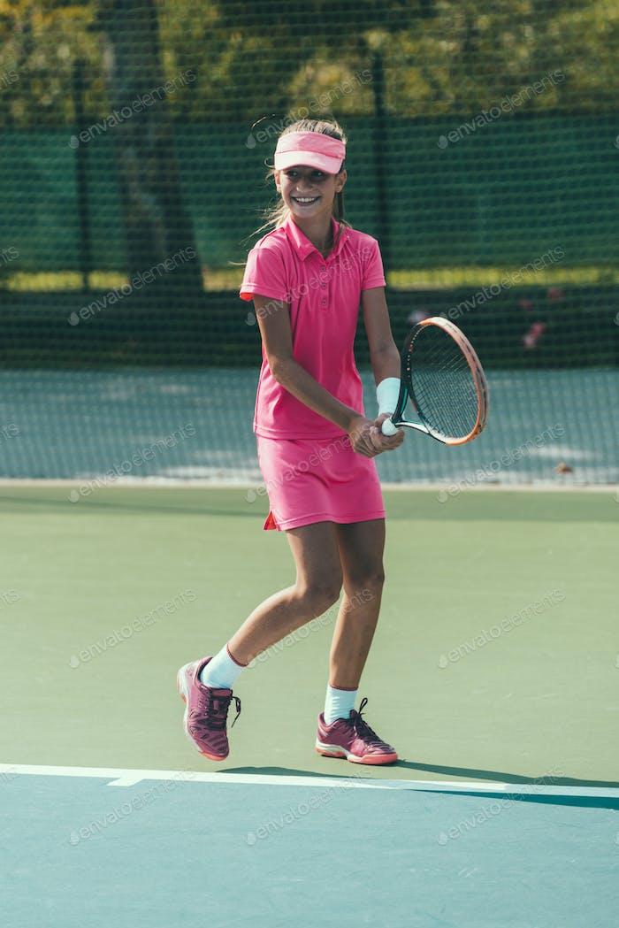 Tennis girl blue 7425 f3