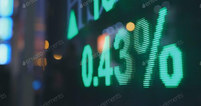Exposición del mercado de valores en la ciudad