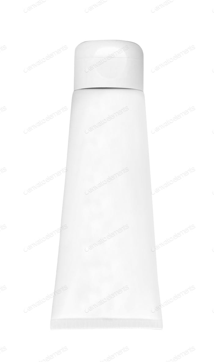 The plastic tube isolated on white