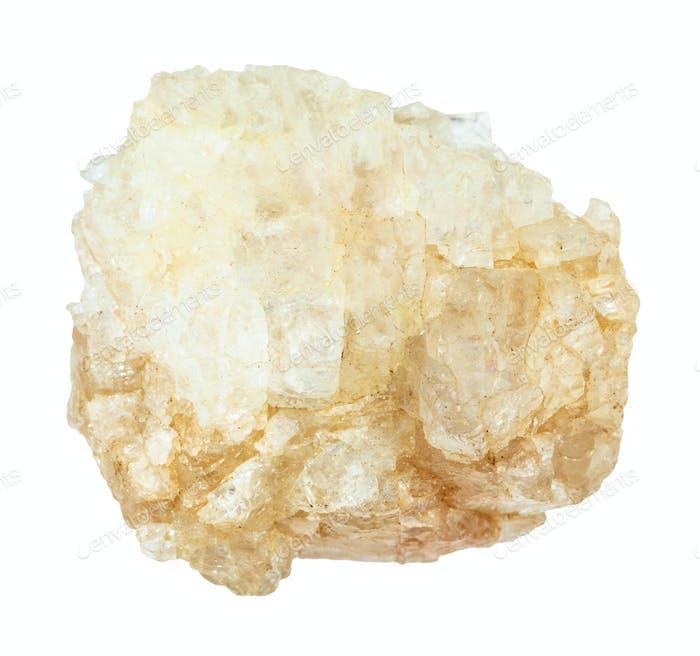 rough Topaz gemstone isolated on white