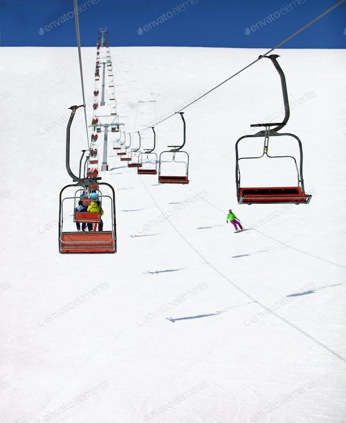 Ski Lift to the Top of the Mountain
