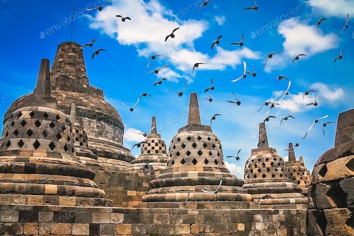 Borobudur Temple in Java