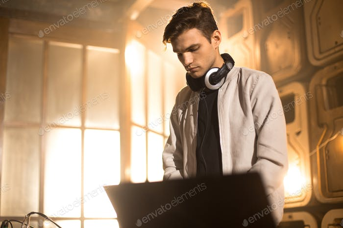 DJ Playing in Club