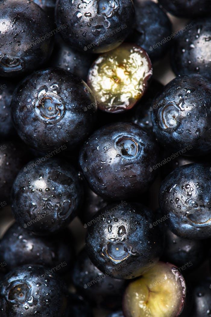 Fresh summer berries such as blueberries