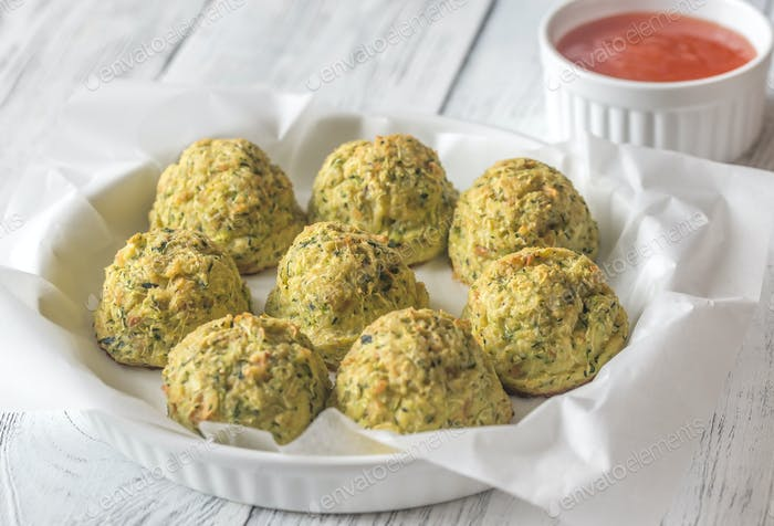 Zucchini tots on the plate