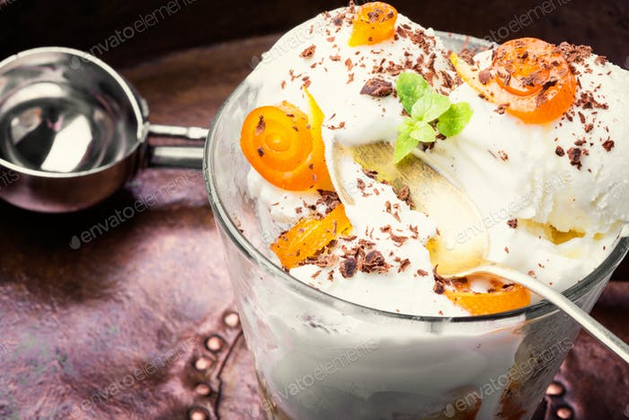 Delicious orange icecream