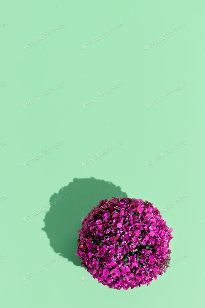 Plastik flowers minimal design still life concept