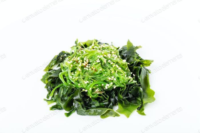 Delicious japanese seaweed salad.