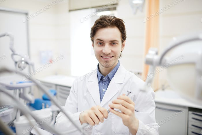 Portrait of Young Dentist