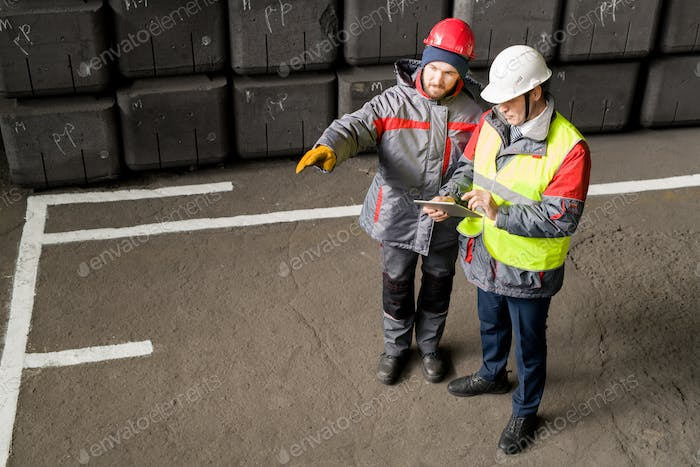 Workers Discussing Production