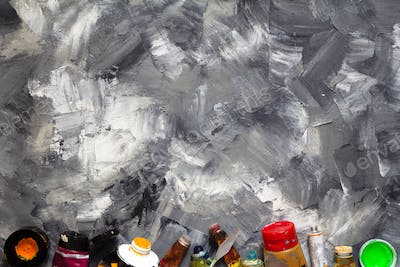 painted background texture and paints set
