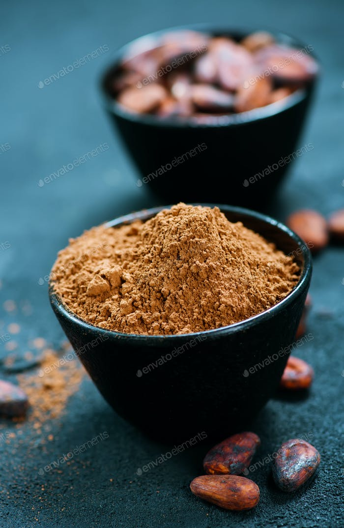 beans with powder