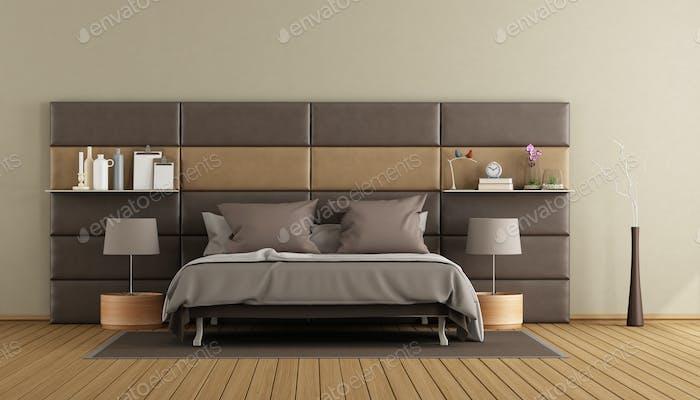 Elegant master brown master bedroom