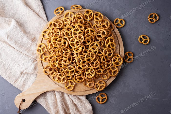 Mini salted pretzels