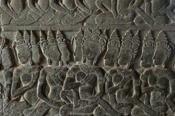 mural at Angkor Wat,cambodia