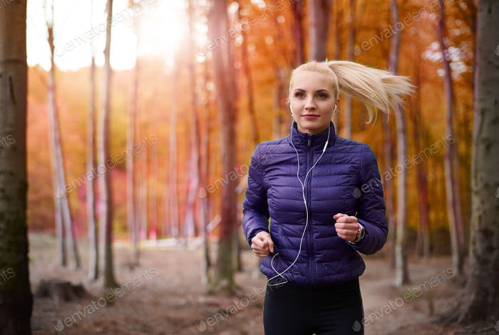 Autumnal day perfect for jogging