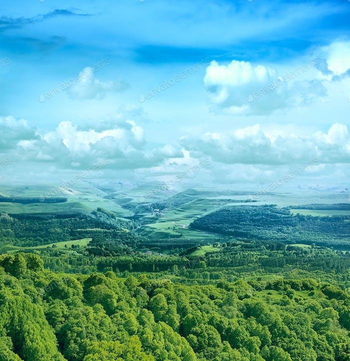 Landscape of the North Caucasus, Russia