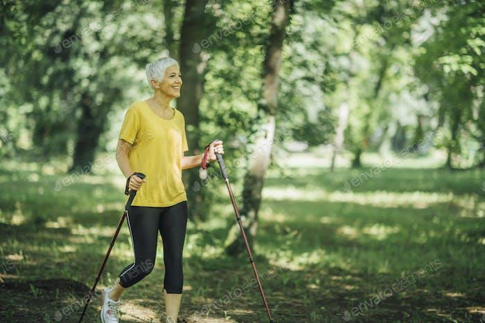 Nordic Walking Exercise