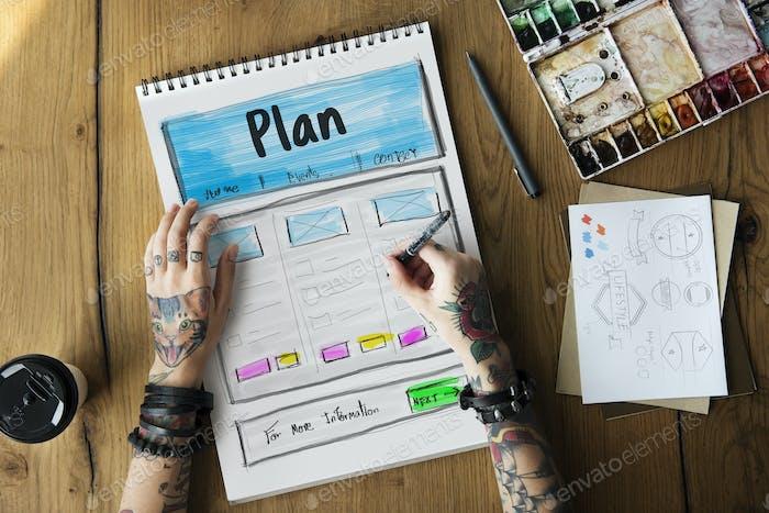 Creative Thinking Webseite Graphic Design Vorlage