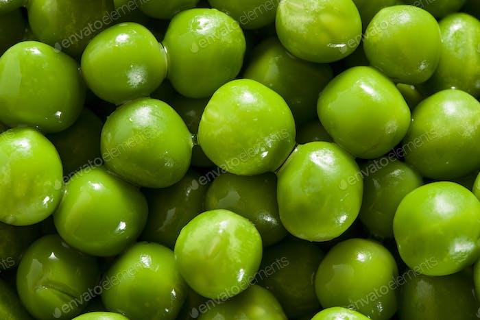 Fresh Green Organic Cooked peas