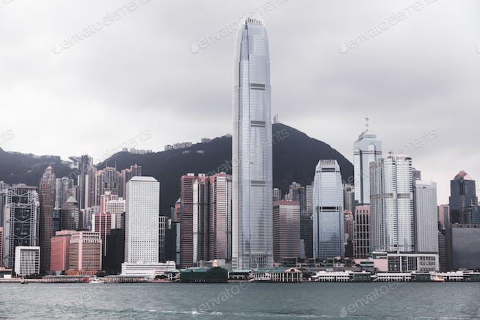 Famous Hong Kong skyline