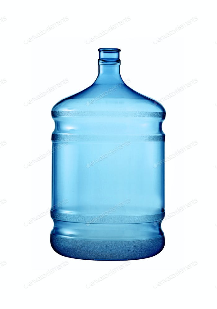 big plastic bottle for potable water isolated