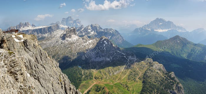 View from the top of Lagazuoi, Dolomites, Italy