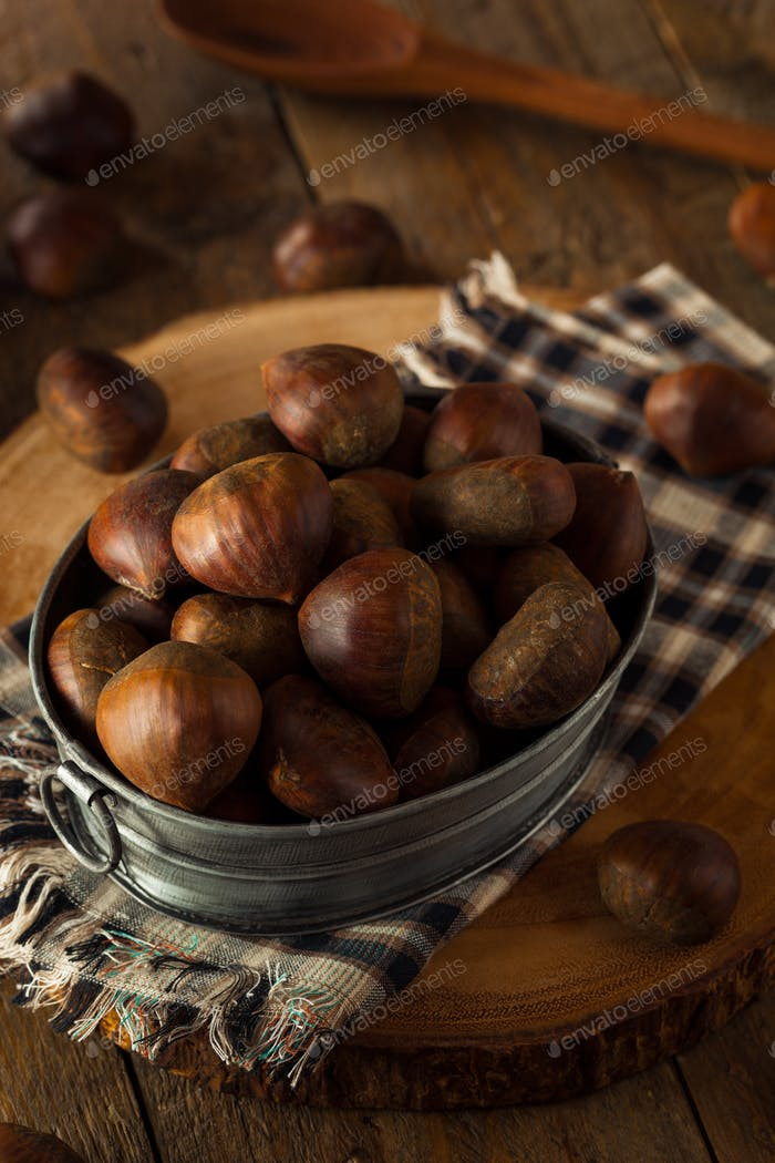 Raw Brown Organic Italian Chestnuts