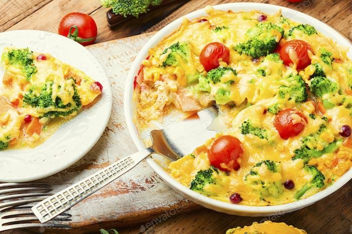 Delicious vegetable casserole