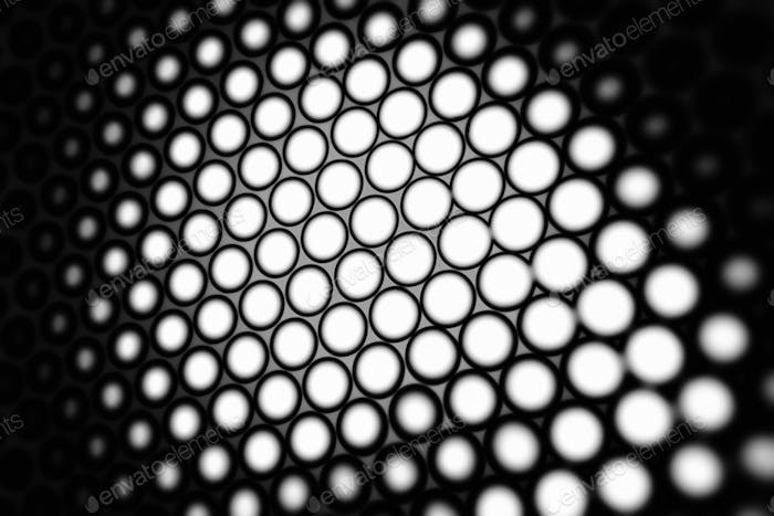 Black and white honeycomb background