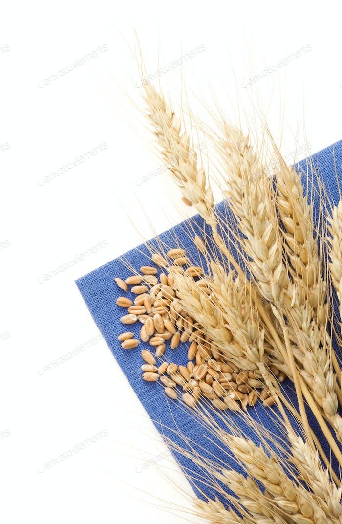 ears of wheat on napkin