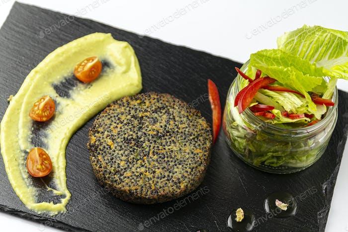 Black quinoa cutlet