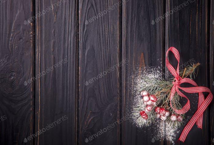 Weihnachten Hintergrund mit Dekorationen