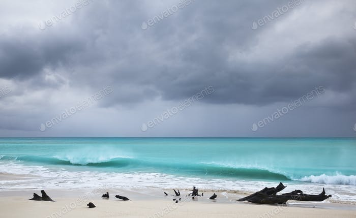 Storm At Caribbean Beach, Antigua
