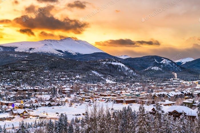 Breckenridge, Colorado, USA Stadt Skyline