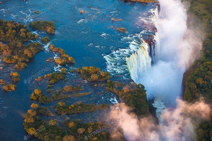 Victoria Falls aus der Luft