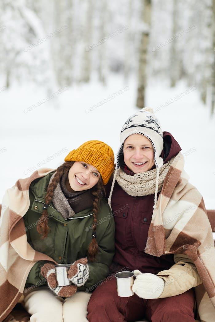 youg paar in winter park